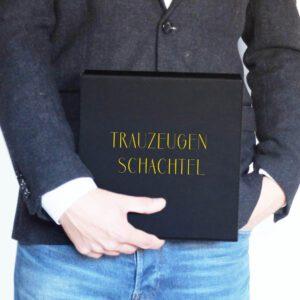 Trauzeugen Geschenk | Trauzeugen Schachtel