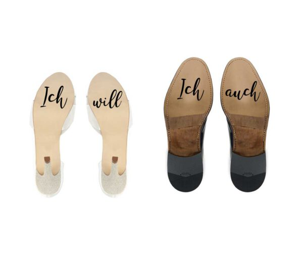 Geschenk Braut - Schuhsticker_Ichwill_Ichauch