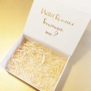 Trauzeugin Schachtel | Geschenk Trauzeugin