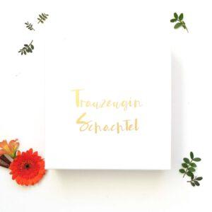 Trauzeugin Geschenk - Trauzeugin Schachte