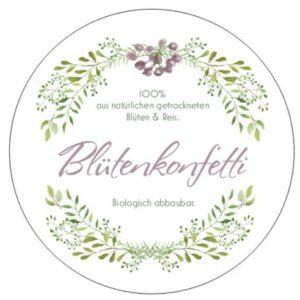 Gastgeschenk Blütenkonfetti Hochzeit