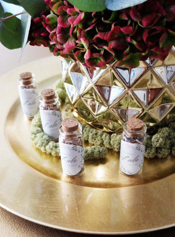 Gastgeschenk   Geschenk Hochzeitsgäste   Blumensamen