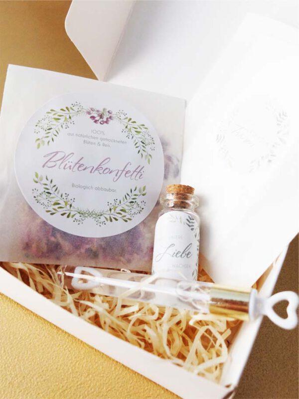 Gastgeschenk Schachtel   Geschenk Hochzeitsgäste