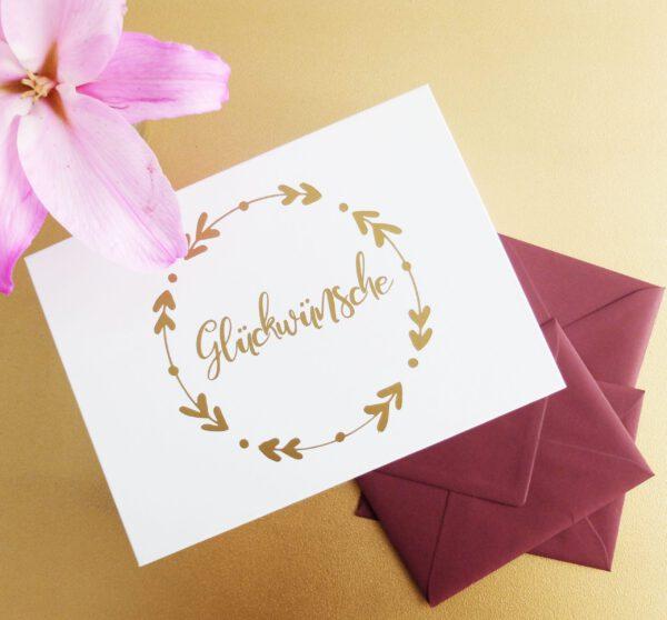 Glückwünsche Hochzeitsgeschenk Kartenbox