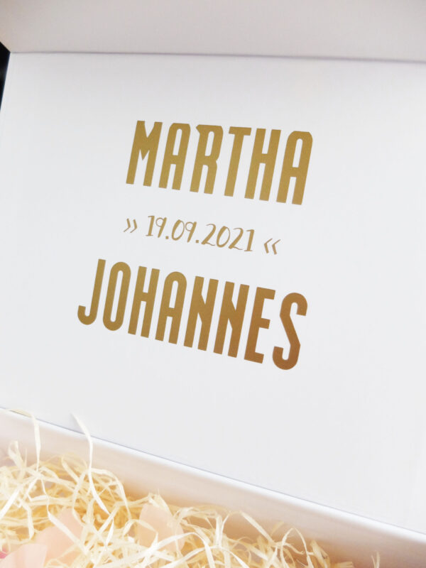 Unsere Hochzeit Erinnerungsschachtel Hochzeitsgeschenk