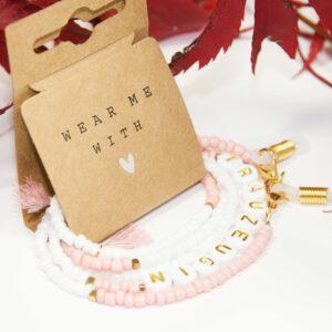 Die Trauzeuginkette - Perfekt als Mundschutzkette, Brillenkette, ArmbandDie Brautkette - Perfekt als Mundschutzkette, Brillenkette, Armband oder als Halskette oder als Halskette