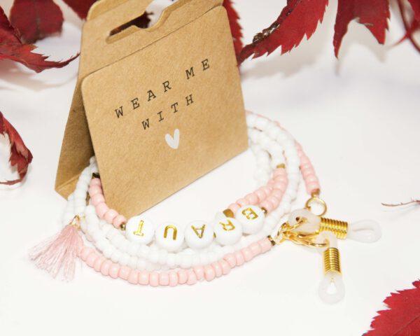Die Braut Kette - Perfekt als Mundschutzkette, Brillenkette, ArmbandDie Brautkette - Perfekt als Mundschutzkette, Brillenkette, Armband oder als Halskette oder als Halskette