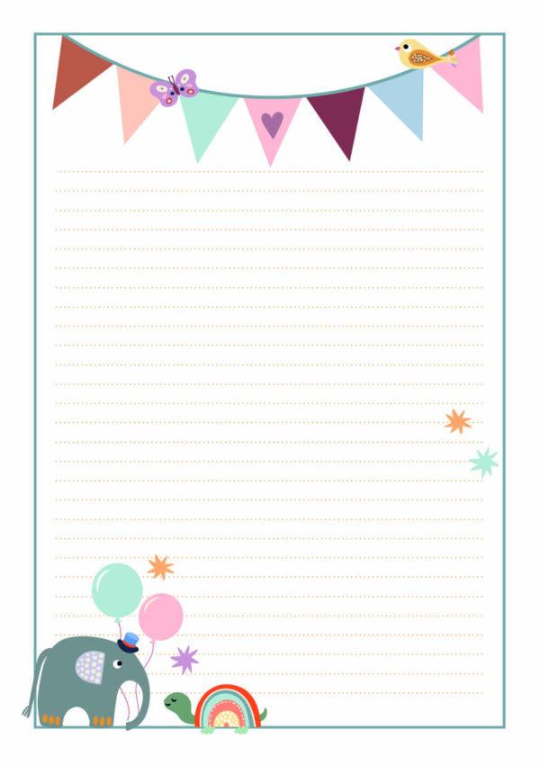 Brief ans Baby - Briefpapier Baby Party