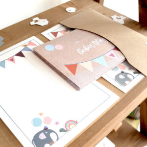 Babyparty - Briefpapier - Schachteltante
