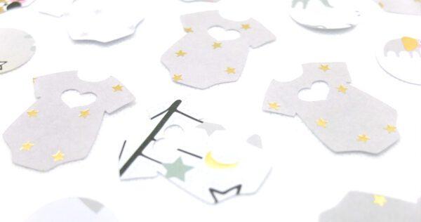 Baby Konfetti Babyparty Dekoration