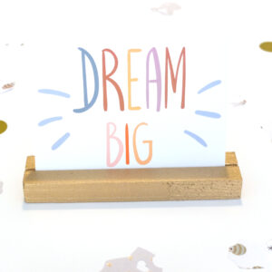 Dream Big Postkarte Baby Einladung