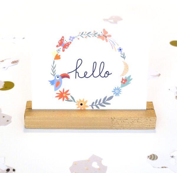 Hello Papagei Postkarte Baby Einladung