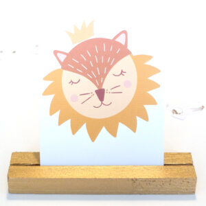 Löwe Postkarte Baby Einladung