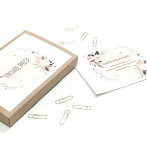Freunde Poesie Karten